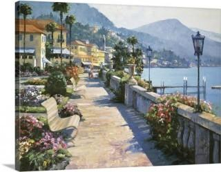 "Great Big Canvas 'Bellagio Promenade' Howard Behrens Painting Print (GRWO6323) -27"" x 36"""