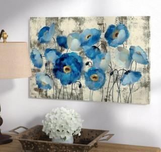 """Andover Mills 'Aquamarine Floral' Print (ADML2069_22108477_26195236) - 8"""" x 12"""""""