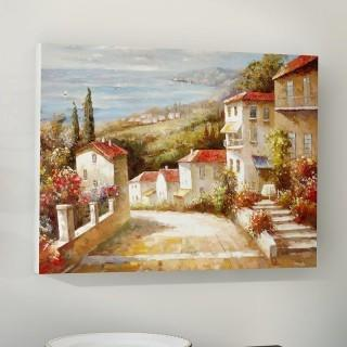 "Charlton Home Home in Tuscany' Painting Print on Wrapped Canvas (CHLH1487_14956372) - 14"" x 19"""