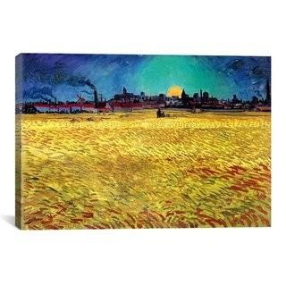 "iCanvas 'Sommerabend' by Vincent Van Gogh Painting Print on Wrapped Canvas IZN3105_10919317)- 12"" x 18"""