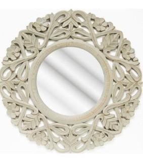Lark Manor Round Wood Wall Mirror (LRKM2051)