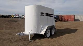 T/A Horse Trailer Note:  No Serial Number Available, VIN Plate Missing.
