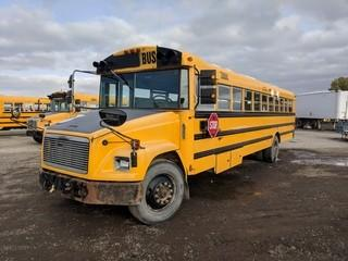 2004 Freightliner School Bus c/w Cat C7 Turbo Diesel, Auto, 10R22.5 Tires. Showing 374,982 Kms.