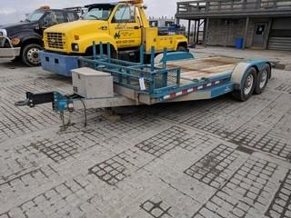 2008 PTL 18' T/A Tilt Deck Trailer c/w 7,000 LB Axles, 235/85/16 Tires.