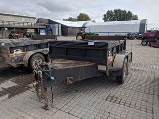 Southland 8' T/A Ball Hitch Dump Trailer c/w 2 5/16 Ball Hitch, 3,000 LB Axles. Unit # U5509.