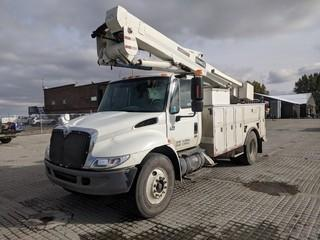 2006 International 4300 S/A Bucket Truck c/w Auto, Terex TL44M Manlift, 11R22.5 Tires. Showing 135,333 Kms. Unit # U5609.