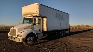 2007 Kenworth T300 S/A Van Body Truck c/w Cat C7, 6 Spd, 20' Van Body,  Power Tailgate.