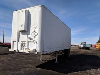Fruehauf 8'x28' S/A Insulated Van Trailer c/w Reefer. Unable to verify serial number.