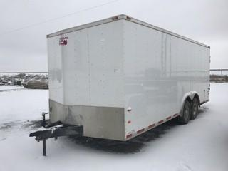 "2015 Night Hawk 8'6""x20' T/A Enclosed Trailer c/w 6,000 LB Axles.