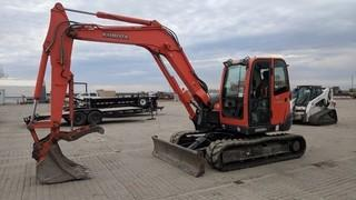 Kubota KX-80-3 Mini Excavator Showing 1617 Hours.