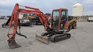 Kubota KX-91-3 Mini Excavator c/w Hyd. Thumb. Showing 2,845 Hours.
