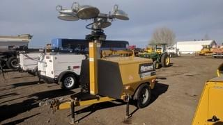 2012 Allmand Maxi-Lite Portable Light Tower c/w Isuzu 4 Cyl Diesel, Stamford Genset, (4) Lights, 22 KW, 3 Phase.  Showing 4220 Hours.