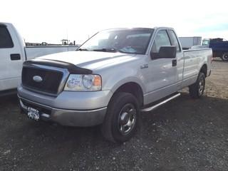 2007 Ford F150 Extended Cab 4x4 PU c-w 4.6L, Auto, A-C. Showing 248,802 Kms.