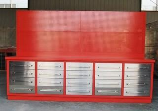 Unused 10 Ft. 20 Drawer Heavy Duty Work Bench Control # 7034.