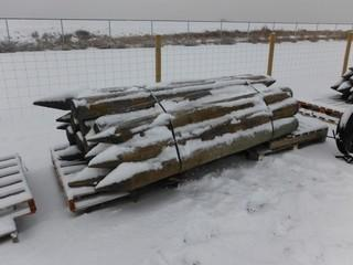 """Treated Fence Posts 4"""" x 8' Long Control # 7052."""