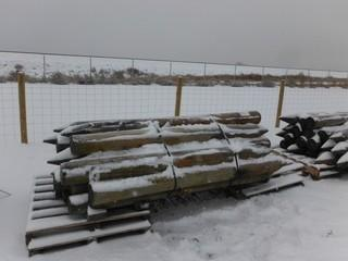 """Treated Fence Posts 4"""" x 8' Long Control # 7053."""