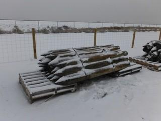 "Treated Fence Posts 4"" x 8' Long Control # 7054."