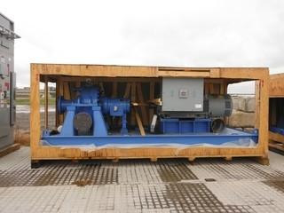 Lawrence Flowserve HPX6000 Slurry Pump c/w Hyundai 3 Phase Inverter Duty AC Induction Motor, High Temperature Process, Fully Lined Slurry Pump. Note:  New/Unused In Crate.  Control # 7077.