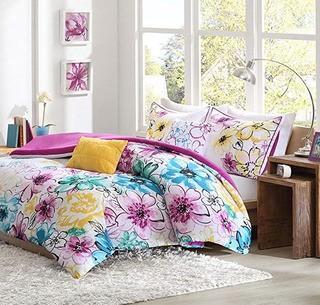 Intelligent Design Olivia Comforter Set - Purple Blue-5 Piece Bed Sets-King