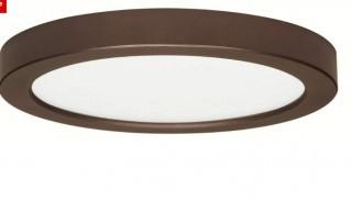 Orren Ellis Elzy 18.5W 5 Flush Mount LED Fixture 27K Round BN 120V (ORLS5559_32989084)-Bronze