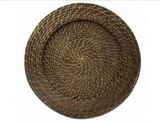 """Birch Lane Rattan 13"""" Charger Plate in Brick Brown (BL23160)-Set of 4"""