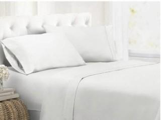 Alwyn Ultra Soft 1800 Thread Count Sheet Set-Twin-White
