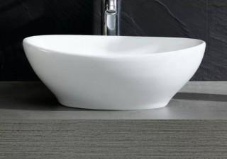 Fine Fixtures Modern Oval Vessel Bathroom Sink (FINF1067)-White