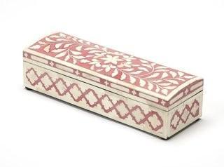 Bungalow Rose Amorita Inlay Decorative Box (BGRS1551)-Rose