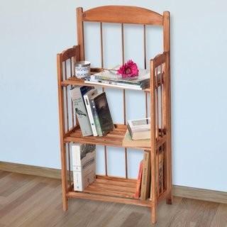 Lavish Home Etagere Bookcase (TMK6393)-Brown