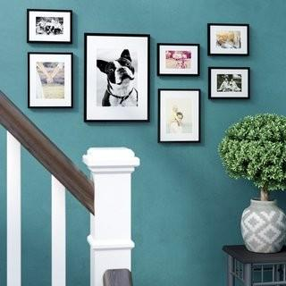 Red Barrel Studio 7 Piece Perfect Wall Picture Frame Set (RBRS4085_22243928)-Walnut Wood