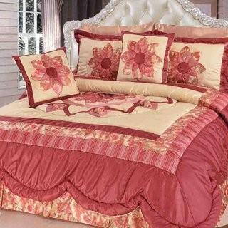 DaDa Bedding New Sunset Rubies Quilt Set (DABD1290_15236980)-Twin