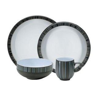 Denby-Jet Stripes-4PC( Missing Bowl)