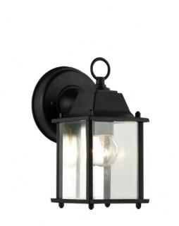 August Grove Terrazas 1-Light Outdoor Wall Lantern AGRV3841_29613666)-Black