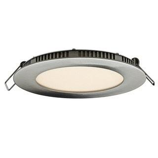 DALS Lighting Round Panel LED Recessed Trim DSLG1009_18560841)-Stain Nickel