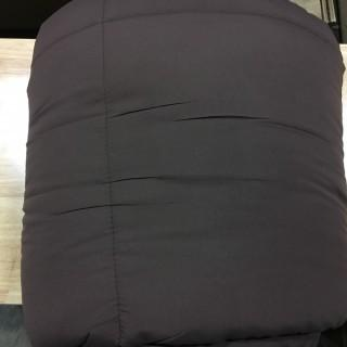 Quilted Duvet Cover-Queen-Brown