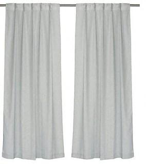 LJ Home Karma Rich Solid Semi-Sheer Grommet Curtain Panels (FPN1820_18098907)-White-4 Pannels