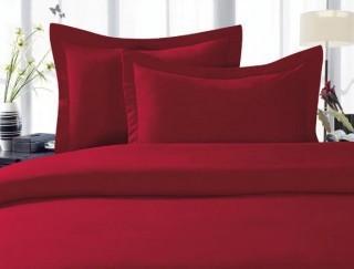 Elegant Comfort- Duvet Cover Set-Burgundy-Twin