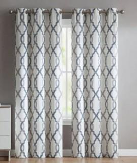 "VCNY Home- Caldwell- Curtain Panel Pair-Grey-36""x96"""