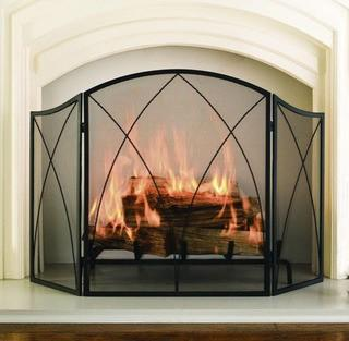 Pleasant Hearth Fireplace Screen 959 Arched-Black