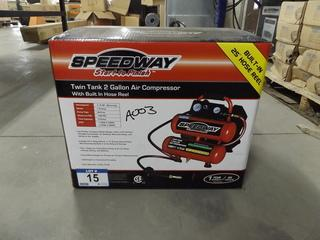 Speedway Twin Tank 2 Gallon Air Compressor
