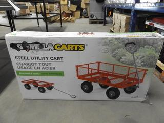 Gorilla Carts Steel Utility Cart c/w Removable Sides