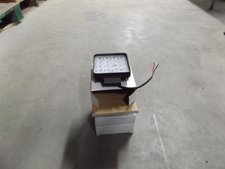 Lot of (4) 4in Square LED Lights