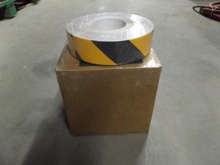 "Lot of (2) Rolls of 2""x30m Black & (2) Rolls of 2""x30m Black & Yellow Anti-Slip Adhesive Tape"