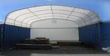 Unused 30'x40'x15' Super Ceiling Container Storage Shelter. Control # 7290.