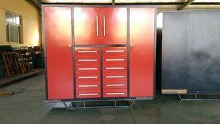 "Unused 80"" Heavy Duty Multi Drawer Tool Cabinet c/w 12 Drawers, 2 Large Doors, 2 Small Doors. Control # 7301."