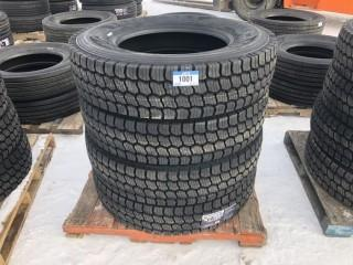 Lot of (4) NT 769S 11R24.5 Tires Control # 763.