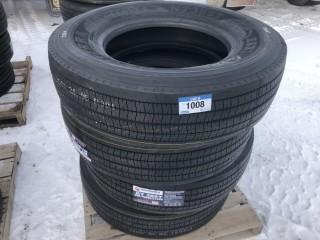 Lot of (4) NT386T 295/75/22.5 Trailer Tires Control # 7702.