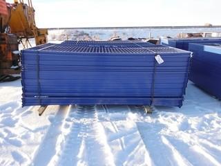 Blue Construction Fence 6'x10' Control # 7729.
