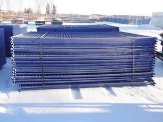 Blue Construction Fence 6'x10' Control # 7730.