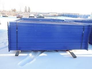 Blue Construction Fence 6'x10' Control # 77311.